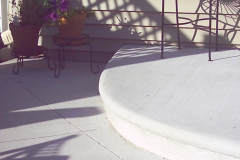 Concrete Patio with Step